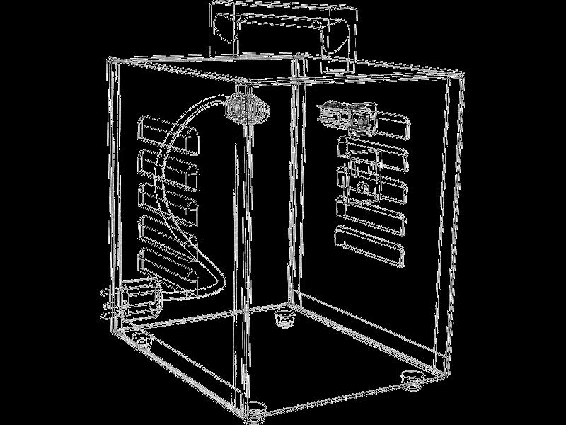 3D CAD Gehäuse Gitternetz